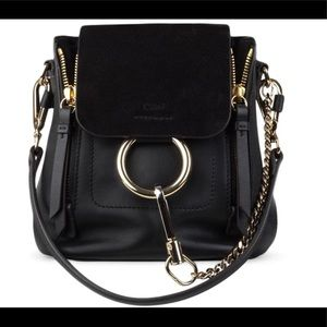 Chloe Rylee Mini Leather Black Backpack